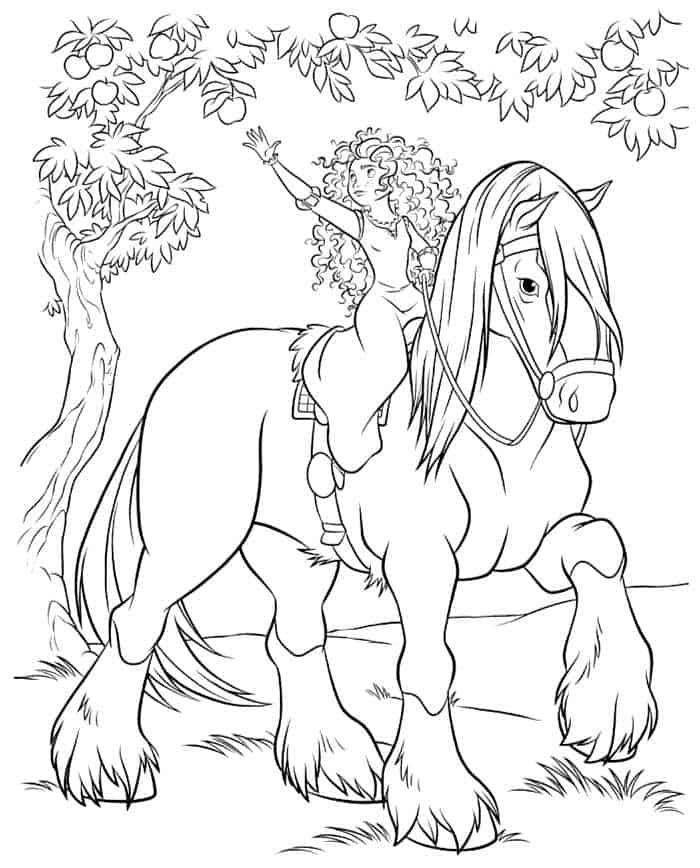 ausmalbilder für mädchen pferde