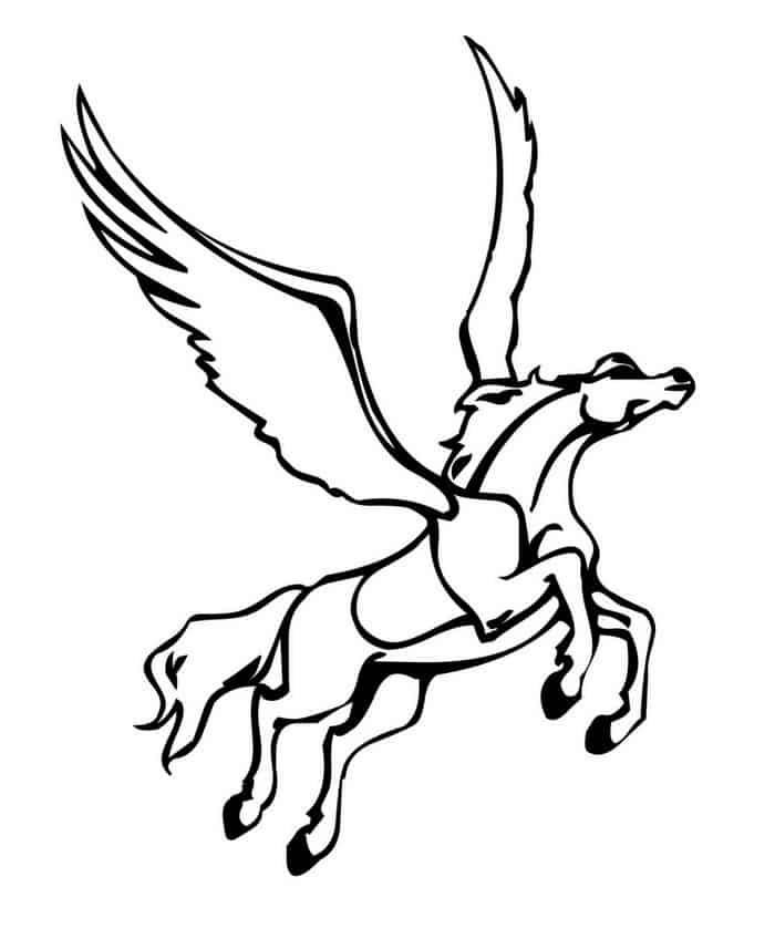 ausmalbilder pferde mit flügel