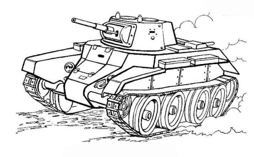 Ausmalbilder Militär Panzer